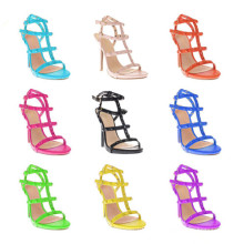 New Design High Heel Straps Lady Dress Sandales (S09)