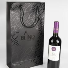 Sacs de cadeau de bouteille de vin en papier personnalisés