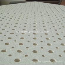 Placa de teto perfurada acústica de venda quente do gipsita