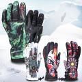 Bunte Stickerei im Freien wasserdichte Thinsulate warme Ski-Handschuhe