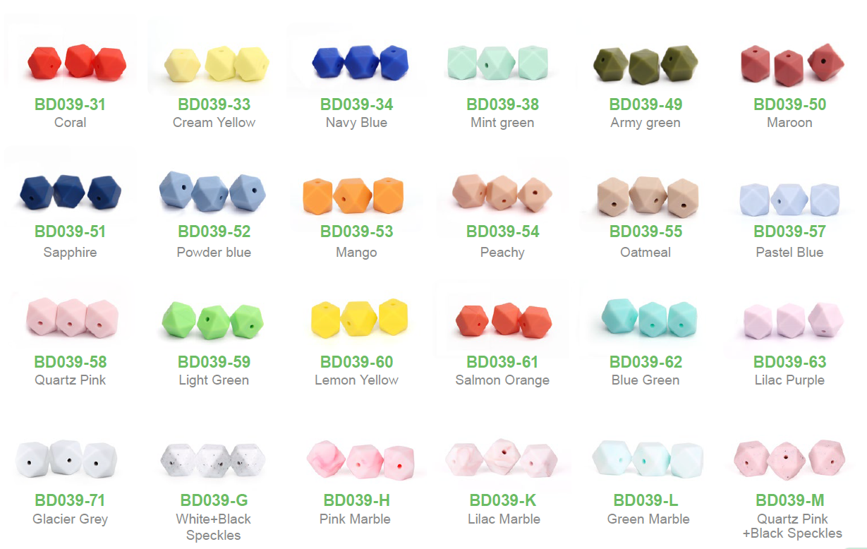 bulk silicone teething beads