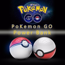 10000 mAh Pokemon Go Pokeball Cargador Portátil Luz LED Pokemon Power Bank