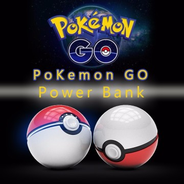 2016 Pokeball Banco de energia para celular Pokemon Go Power Banco 10000mAh com luz LED
