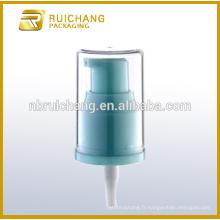 Pompe à lotion en plastique / pompe à loches crème de 20 mm / distributeur de pompe à lotions de revêtement UV avec AS overcap