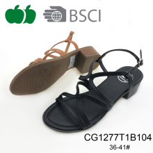 Fashion Summer Style Lady Comfortable Low Heel Sandal