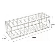 Manufacturer 1.0x0.3x0.3m Galvanzied Welded Cage Customized Rock Filled Gabion Wall