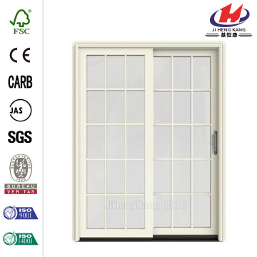 Red Prehung Left-Hand Clad-Wood Sliding Patio Door