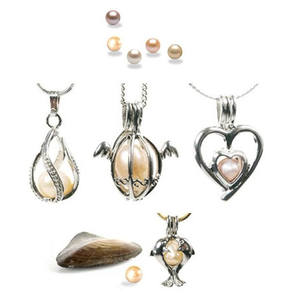 Wish Pearl Cage Pendants