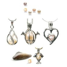 Love Wish Freshwater Pearl Cage Pendants