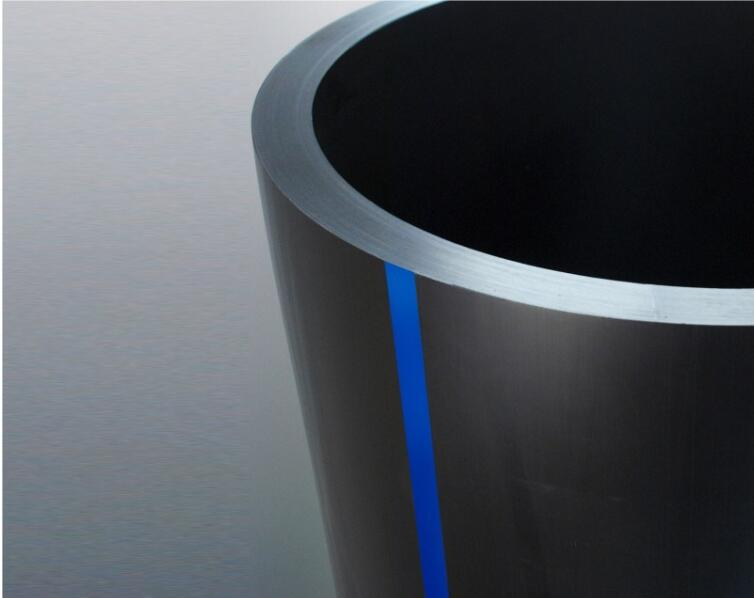 Hdpe Water Supply Pipes With Blue Belt