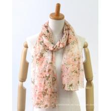 bufanda de las señoras teñidas de hilo cómodo fino personalizado