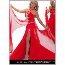 Rojo Halter Rhinestones Belleza vestido de vestir RO11-24