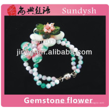 china hot charms puros crystal girls beads moda de moda al por mayor nueva moda colombian handmade pulseras con piedra