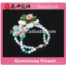 Chine chaud pur charmes cristal filles perles à la mode unique en gros nouveau branché à la main bracelets à la main avec de la pierre