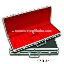 Neue Ankunft starken 500 Aluminium Poker Case Leder
