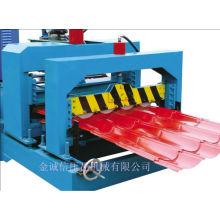 Machine à formage de rouleaux de tuiles glacés en acier