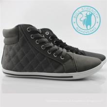 Calçados masculinos pu tornozelo calçados de lazer sneaker (snc-011313)