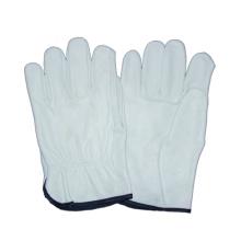 Weißer Kuh-Korn-Fahrer-Handschuh, Arbeit-Leder-Handschuh