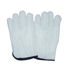 White Cow Grain Driver Glove, Work Leather Glove