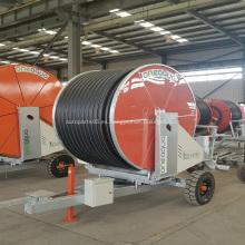 Sistema de riego de carrete de manguera de rueda agrícola