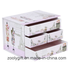 Impresión Decorativa De Cartón Cajón De Papel Caja De Organizador De Almacenamiento
