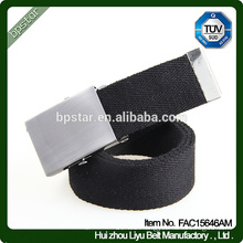 Men Belt Military Canvas Black Webbing Casual for Male Jeans Golf Cintos 2016 Fashion Wholesale Factory