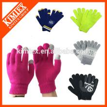 Mode Acryl benutzerdefinierte Winter strickte Handschuhe für Texting