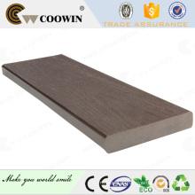 Piso de pvc de madera maciza, decking wpc, wpc compuesto