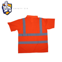 Breathable 100% cotton reflective safety t-shirt wholesale