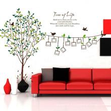 Familia Marco de Fotos Diseño de Calidad Superior Etiqueta de La Pared Árbol Pizarra Pvc Decoraciones Extraíbles de Vinilo Calcomanía Etiqueta