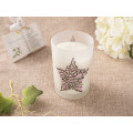 Natural Soy Birthday Candle Handmade in Clear Glass