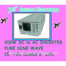Saída monofásica 12VDC 200W inversor 200VAC 50Hz