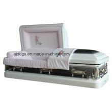 Cercueil blanc avec la Nature brossé