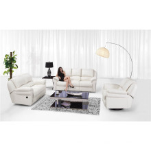 Sofá de sala de estar de couro genuino (811)