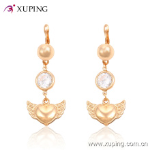 Fashion Elegant Pearl Heart-Shaped Gold-Plated Jewelry Earring Eardrop with CZ -24758
