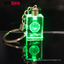 Cheap custom 3d rose crystal key chain