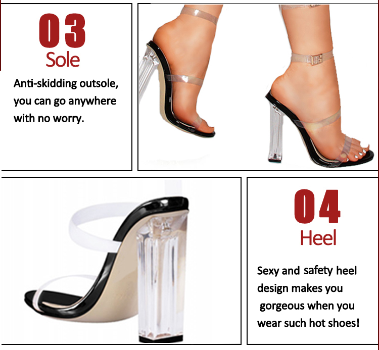 clear plastic sandals