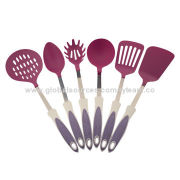 6-piece Nylon Kitchen Utensils/Tools, FDA and LFGB Marks, Various Colors Available