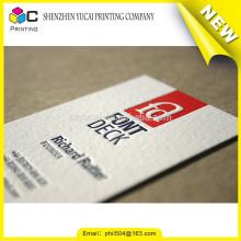 Impression de carte de visite de qualité typographique en forme de papier personnalisé