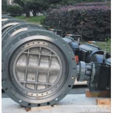 API 609 / Awwa Vatac acero fundido y hierro Wafer / válvula de mariposa con bridas