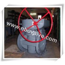 Válvula de encaixe com extremidade flangeada operada por engrenagens (X247-20 pol.)