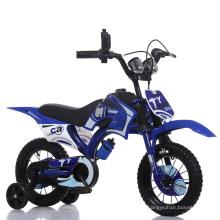Bicicleta de la suciedad de los niños de 16 pulgadas / bicicleta azul de la bici de BMX / de Moto
