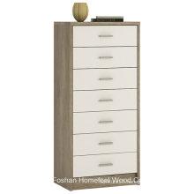 Effortless High Gloss Bedroom 7 Drawer Dresser Chest (HC26)