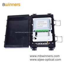 Matériel d'ABS de boîte de jonction de câble optique de fibre de 24 noyaux