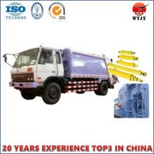 Cylindre hydraulique à double effet pour camion à ordures
