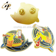 Produto da fábrica de metal de liga de zinco personalizado dragão esmalte pin emblema