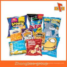 Emballage de poche en aluminium scellé à l'avant pour des boissons bouffées de snack comme les frittes, les frites