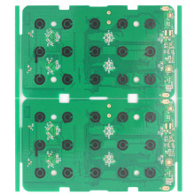 Carbon ink pressing keyboard circuit board