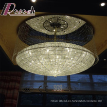 Hot Style Hotel Lobby Clear Crystal Strings Araña de luces