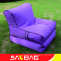 Outdoor foldable lounge and chair bean bag in garden